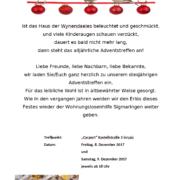 Einladung Charity Lichter Weihnachtsfest Wynendales 2017