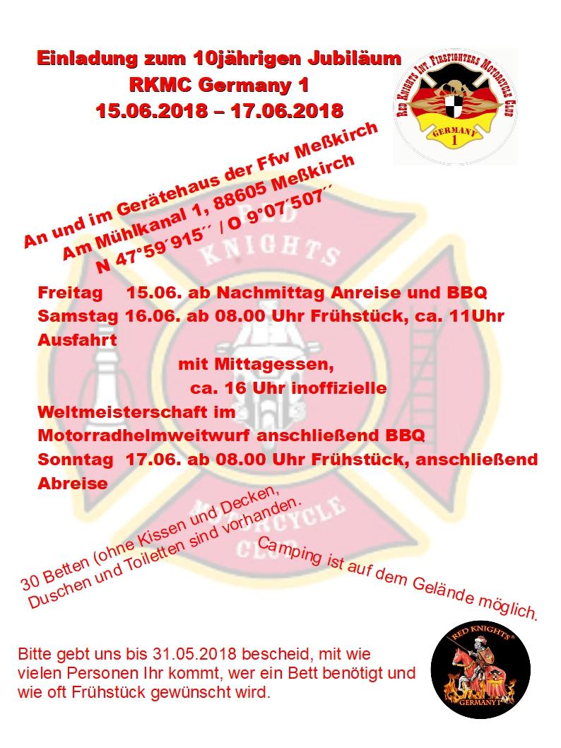 Einladung Sommerfest & Jubiläum GER1