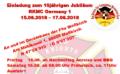 Einladung zum Sommerfest nebst Jubiläum von RK-GER1