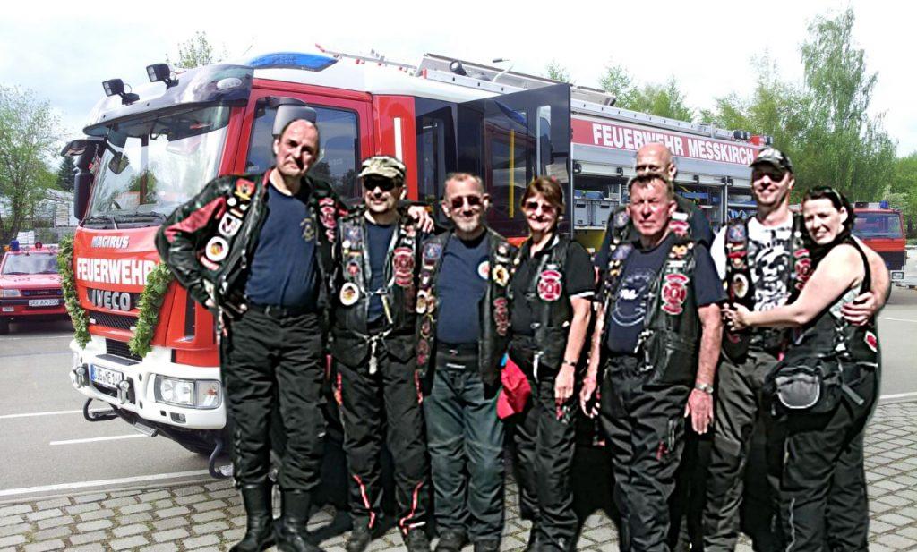Feuerwehr Messkirch Fahrzeugweihe Clubmitglieder Germany1