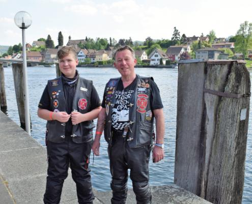 Fotografie Red Knights Germany 1 Visit CH 1 Ausflug Heizer und Paul posieren