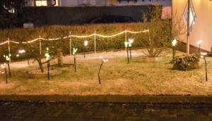 Fotografie RedKnights GER1 Beleuchtung Vorgarten