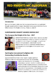 international newsletter july 2018 red-knights cover